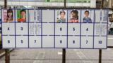 千代田区長選挙および区議会議員補欠選挙のポスター掲示板